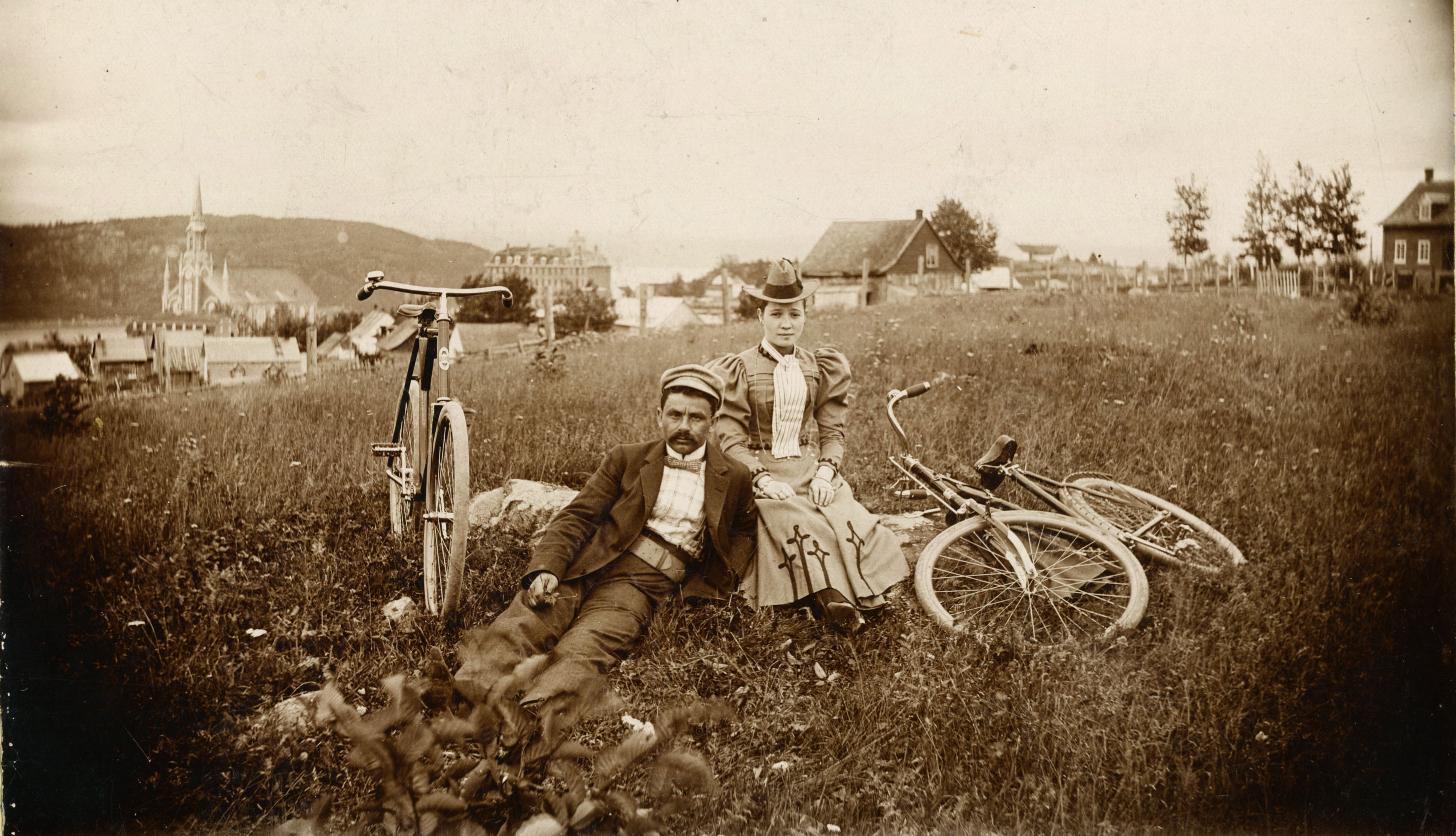 Cycling in Chicoutimi, Quebec, circa 1900 JPL-A