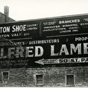 Cover image of Advertisment, Alfred Lamb distributors, Saint Laurent and Notre Dame, Montreal